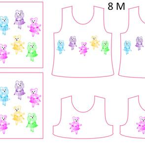Size 8-BALLERINA BEARS  DRESS & TANK