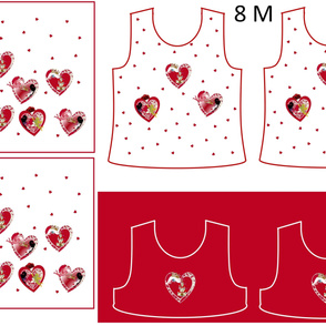 Size 8-RED HEARTS  DRESS & TANK