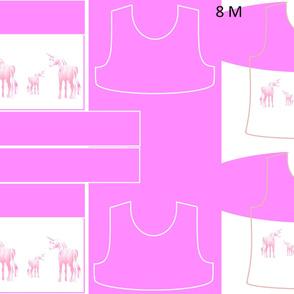 Size 8-PINK UNICORN DRESS & TANK