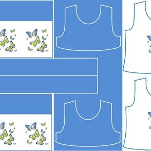 Size 10-BLUE BUTTERFLIES DRESS & TANK