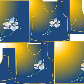 Size 10-FLOWER BIRDS  DRESS & TANK