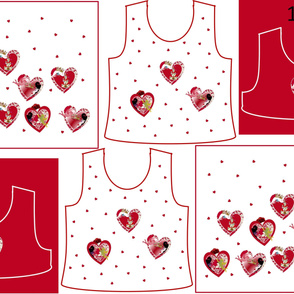 Size 10-RED HEARTS  DRESS & TANK