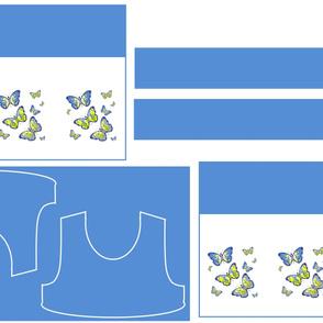 Size 12-BLUE BUTTERFLIES DRESS