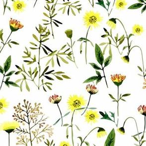 Field Flowers (white-v)