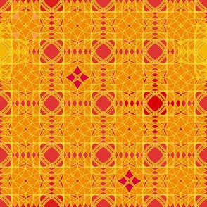 orange and red abstract by rysunki_malunki