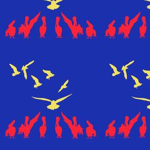 Rows of Birds