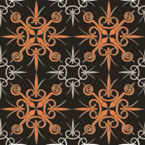 Abstract chocolate orange pattern