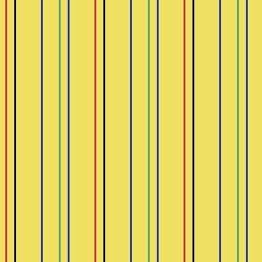 Yellow Multi Color Pinstripe