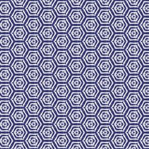 Shibori Indigo Hexagons