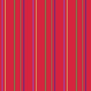 Pinstripes on Bright Red