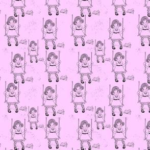 ich geh schaukeln in rosa