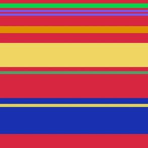 Red Yellow Blue Green Horizontal Stripe