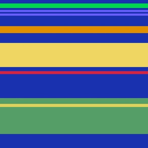 Colorful Navy Broad Stripes