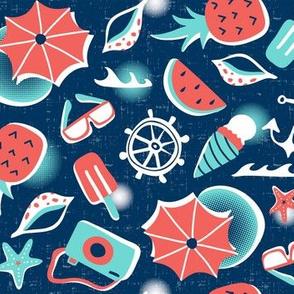 Summer Vacation - Medium Scale Navy