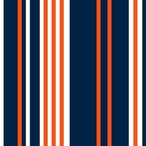 The Navy and the Orange: Vertical Stripes