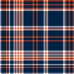 The Navy and the Orange: Plaid