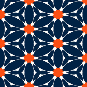 The Navy and the Orange: Crowd of Flowers