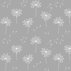dandelions {2} for mom grey and white reversed