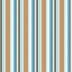 Brown and Blue Stripes