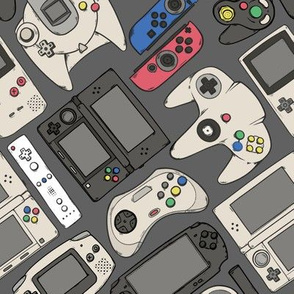 Video Game Controllers in True Colors 2X