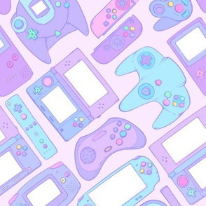 Video Game Controllers in Pastel Colors 2X