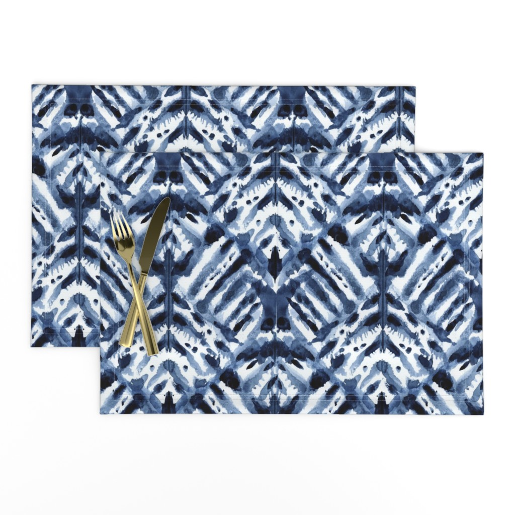 Lamona Cloth Placemats featuring Watercolor Shibori by kristinnohe