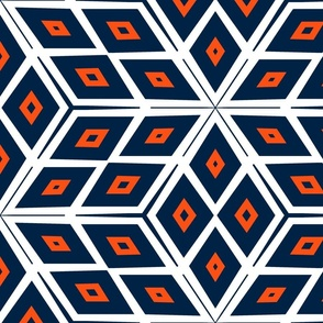 The Orange and the Navy: Cubes with White Two