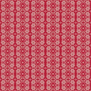 Quilting in Red Design No 13 Flower Lace