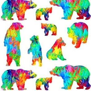 Rainbow watercolour Bears