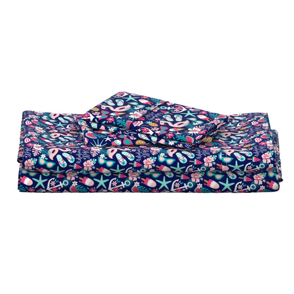Langshan Full Bed Set featuring beach girl - small by mirabelleprint