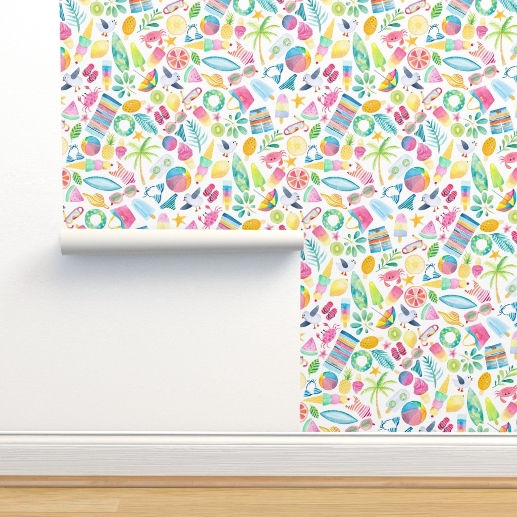 Isobar Durable Wallpaper featuring Ditzy Summer Extravaganza - Small by gingerlique