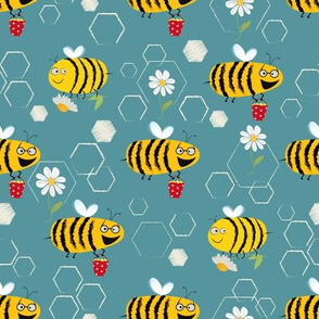 Busy bees blue