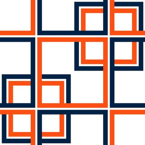 The Navy and the Orange: Squares Through a Window - LARGE