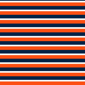 The Navy and the Orange:Tri-Color Stripes -Horizontal - Large