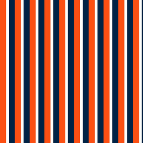 The Navy and the Orange: Tri-Color Stripes - Vertical - Large