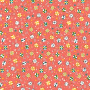 Summer Umbrellas Mini - Coral