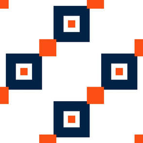 The Navy and the Orange: Diagonal Squares