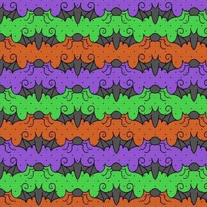 Halloween Spider Bat Stripe