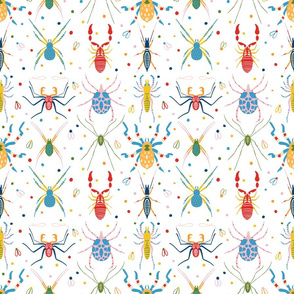 Colourful aracnids