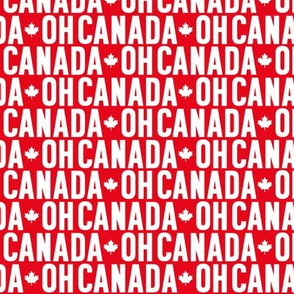 oh canada reversed maple leafs red and white uppercase || canada day canadian july 1st