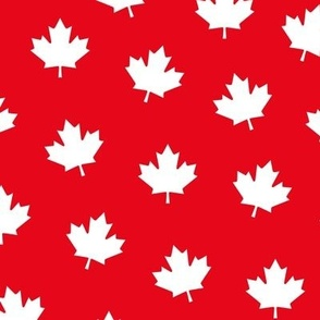 maple leafs LG reversed red and white maples leaves || canada day canadian july 1st