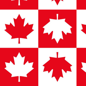 checkered maple leafs squares lg || canada day canadian july 1st