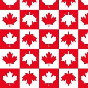 checkered maple leafs squares med || canada day canadian july 1st