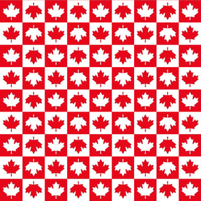 checkered maple leafs squares sm || canada day canadian july 1st