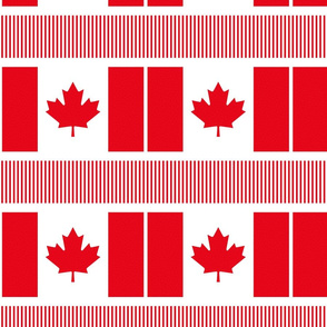 polka flag swatch 8x8 || canada day canadian july 1st