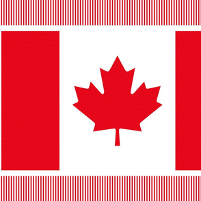 polka flag fat quarter 21x18 || canada day canadian july 1st