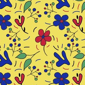 Hand drawn Modern Floral