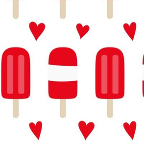 popsicles LG red and white    canada day canadian july 1st
