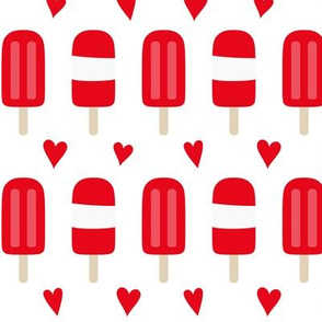 popsicles MED red and white    canada day canadian july 1st