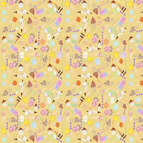 ice cream ditsy 8 x 8